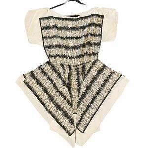 Janette Plus handkerchief mini dress blouse